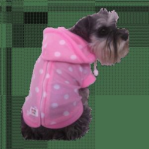 Piknk poka dot dog fleece